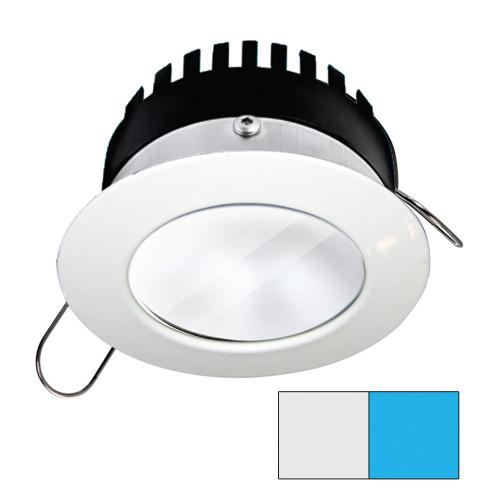 i2Systems Apeiron PRO A506 - 6W Spring Mount Light - Round - Cool White  Blue - White Finish