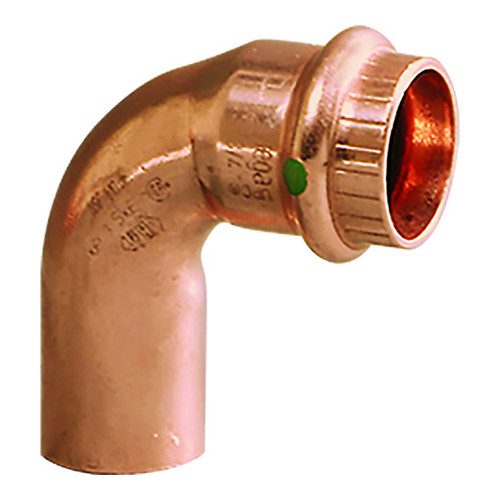 """Viega ProPress 1-1/4"""" - 90 Copper Elbow - Street/Press Connection - Smart Connect Technology"""