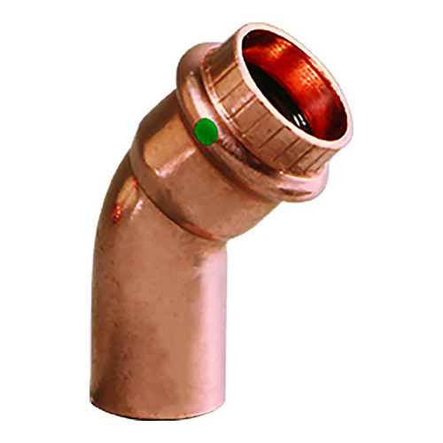 """Viega ProPress 1-1/4"""" - 45 Copper Elbow - Street/Press Connection - Smart Connect Technology"""