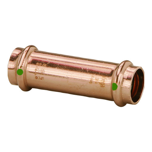 """Viega ProPress 1/2"""" Extended Coupling w/o Stop - Double Press Connection - Smart Connect Technology"""