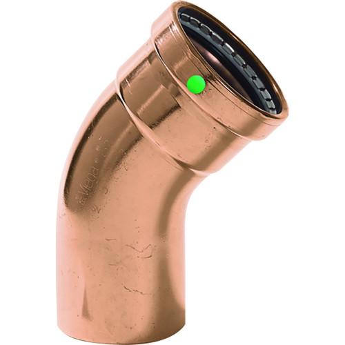 "Viega ProPress XL - 2-1/2"" - 45 Copper Elbow - Street/Press Connection - Smart Connect Technology"