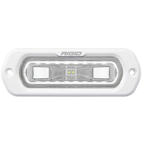 RIGID Industries SR-L Series Marine Spreader Light - White Flush Mount - White Light w/White Halo
