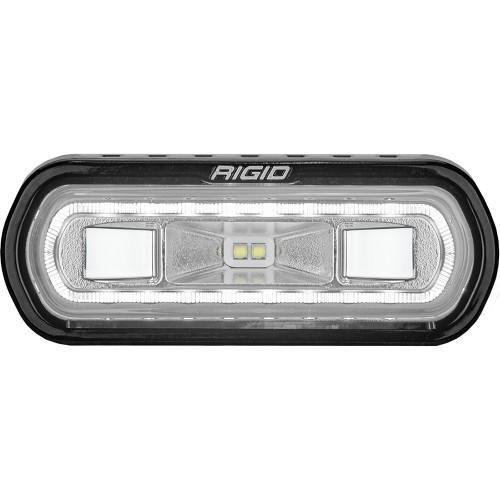 RIGID Industries SR-L Series Marine Spreader Light - Black Surface Mount - White Light w/White Halo