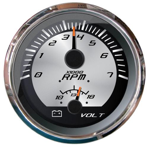 """Faria Platinum 4"""" Multi-Function - Tachometer  Voltmeter"""