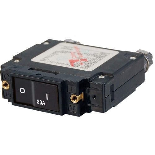 Blue Sea 7548 C-Series Flat Rocker Circuit Breaker - Single Pole - 80A