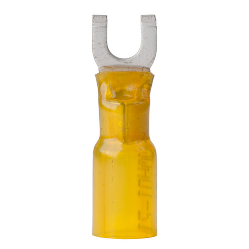 Ancor 12-10 #10 Spade Heat Shrink Yellow 25 Pack