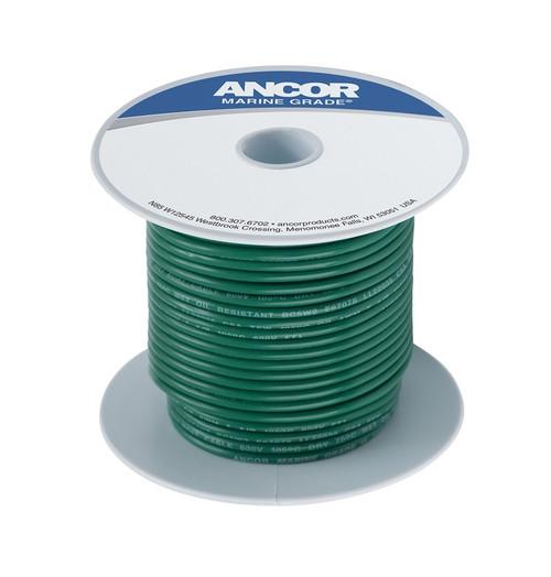 Ancor #8 Green 100' Spool Tinned Copper