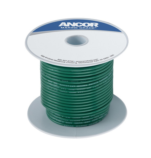 Ancor #8 Green 25' Spool Tinned Copper