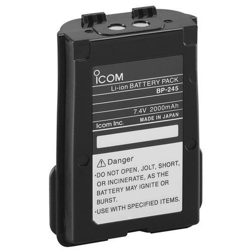 Icom Bp245h 2000mah Li-ion Battery For M72/m73