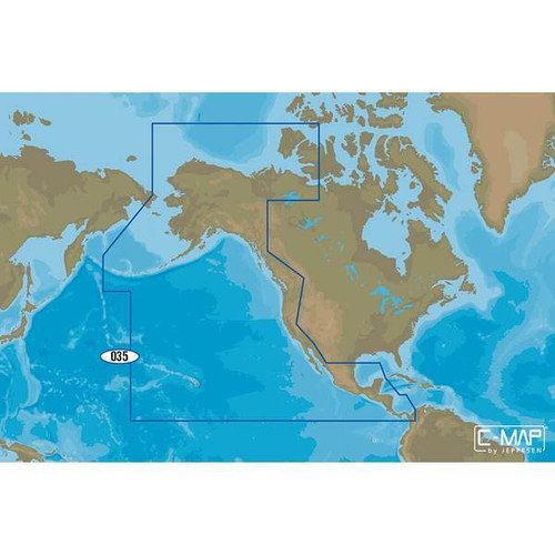 C-map M-na-d035 4d Microsd Pacific Coast Panama To Alaska Continental