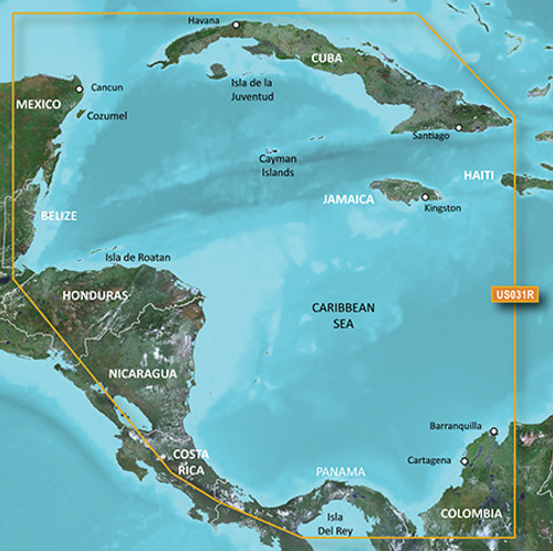 Garmin Hxus031r G3 Micro Sd Southwest Caribbean