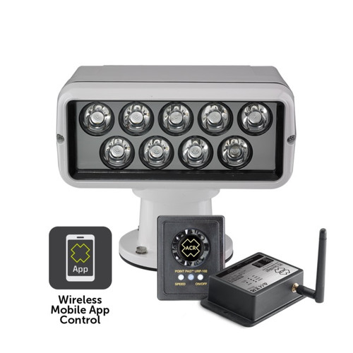 Acr Rcl100 Led Spotlight With Point Pad 12/24v And Wifi Remote White Housing