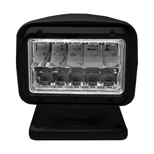 Acr Rcl95 Black Led Spotlight With Wired Point Pad And Wireless Hand Held 12/24v