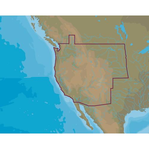 C-map M-na-d071 4d Microsd Us Lakes West