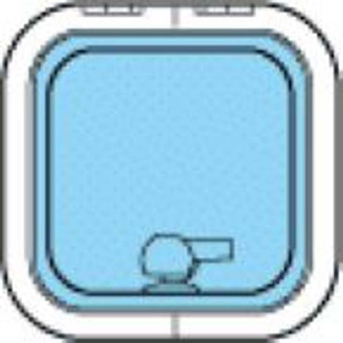Lewmar Size 10 Low Profile Hatch Flange Base