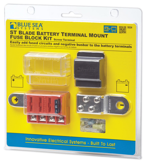 Blue Sea 5024 4-gang Battery Terminal Fuse Block St Ato/atc And Cover