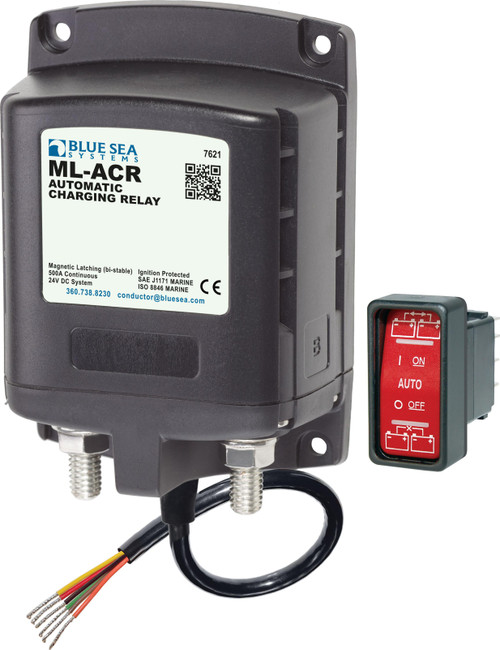 Blue Sea Ml-acr Automatic Charging Relay 24vdc 500a