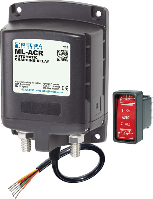 Blue Sea Ml-acr Automatic Charging Relay 12vdc 500a