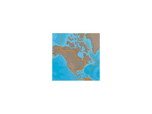 C-map M-na-d033 4d Microsd Atlantic Coast, Gulf Of Mexico Caribbean