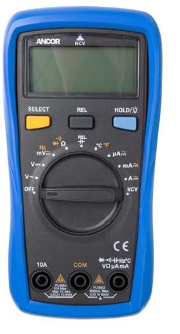 Ancor True Rms 12 Function Digital Multimeter - ANC703073