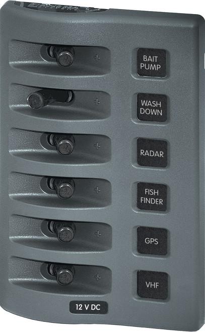 Blue Sea Weather Deck Panel 12v 6 Gang Switch Panel
