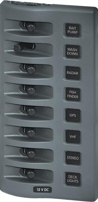 Blue Sea Weather Deck Panel 12v 8 Gang Switch Panel