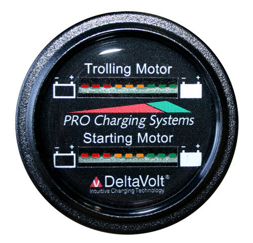 Dual Pro Battery Fuel Gauge For 1 - 24v, 1 -12v  Systems