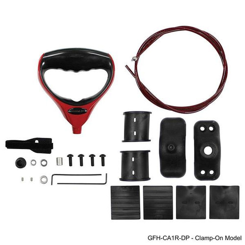 Th Marine G-force Handle And Cable Red With Trolling Motor Clamp