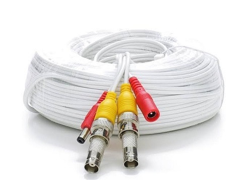 60' Rg59 Siamese Cable Bnc Males And Power Leads