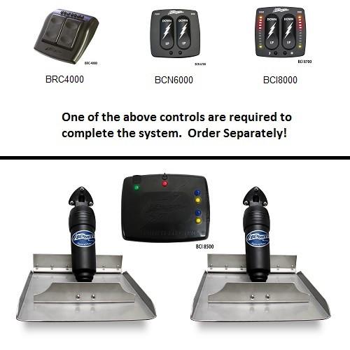Bennett Bolt124 Electric Trim Tabs 12x4 Require Control