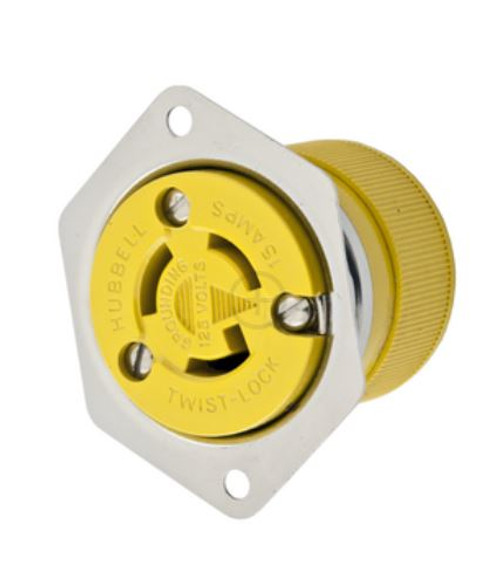 Hubbell Hbl47cm15 15a 125v Locking Flanged Outlet