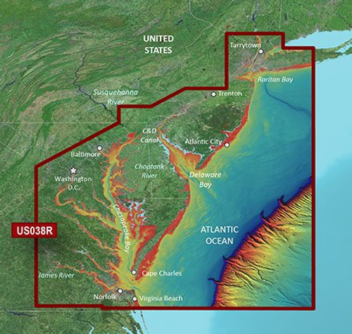 Garmin Vus038r G3 Vision New York To Chesapeake