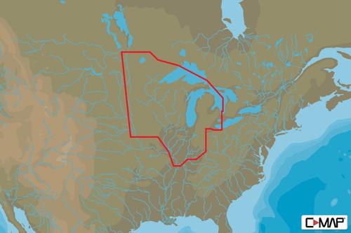C-map Na-y072 Max N+ Microsd North Central Us Lake Insight Hd