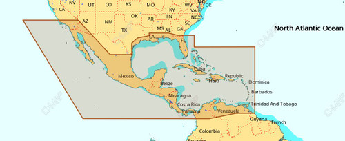 C-map Na-m027 Max Wide Microsd Central America And Caribbean