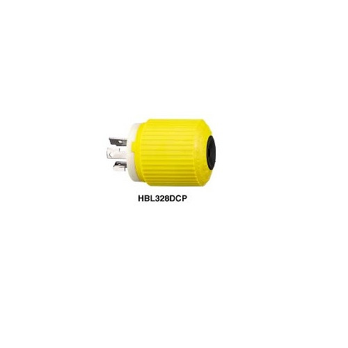 Hubbell Hbl328dcp 30a 28v Dc Locking Connector Male