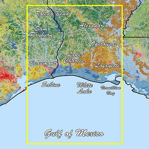 Garmin Louisiana West Standard Mapping Classic