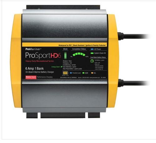 Promariner Prosport Hd 6 Gen4 6 Amp Battery Charger 12v 1 Bank 120v Input