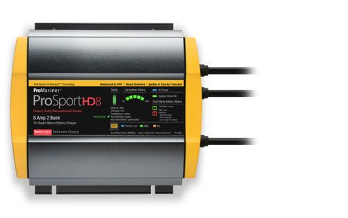 Promariner Prosport Hd 8 Gen4 8 Amp Battery Charger 12/24v 2 Bank 120v Input