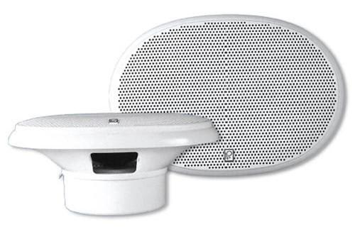 "Polyplanar Ma-5950 White 6""""x9 Oval 80 Watt Speakers"