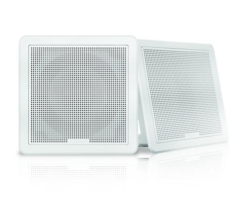 "Fusion Fm-f77sw 7"""" White Square Flush Mount Speakers"
