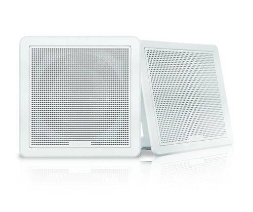 "Fusion Fm-f77sw 7"""" White Square Flush Mount Speakers"
