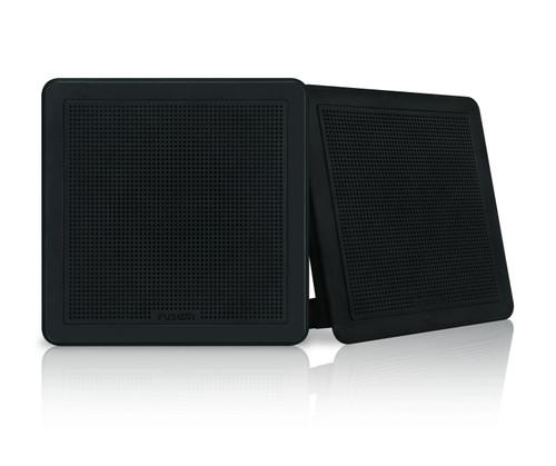 """Fusion Fm-f77sb 7"""""""" Black Square Flush Mount Speakers"""