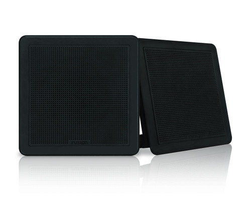 "Fusion Fm-f77sb 7"""" Black Square Flush Mount Speakers"