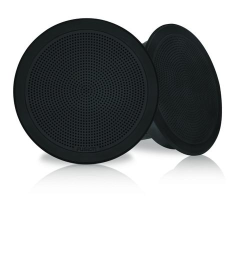 "Fusion Fm-f77rb 7"""" Black Round Flush Mount Speakers"