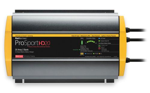 Promariner Prosport Hd 20 Gen4 20 Amp Battery Charger 12/24v 2 Bank 120v Input