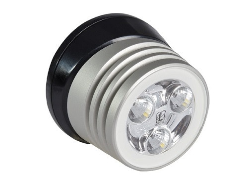 Lumitec Zephyr Deck Light White Led Black Base Brushed Finish 12/24v