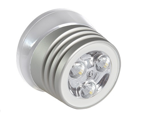 Lumitec Zephyr Deck Light White Led White Base Brushed Finish 12/24v
