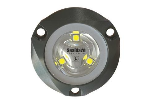 Lumitec Seablaze Mini Spectrum Rgbw Led Underwater Light Anodized Aluminum 12/24v
