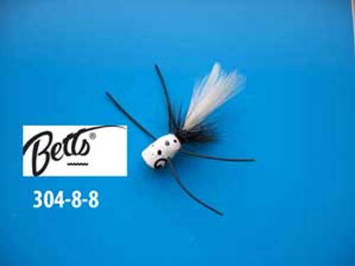Betts Bee Pop White Speck-Black/White Size 8