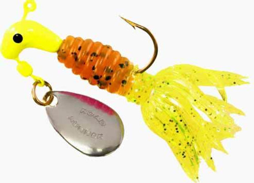 Blakemore Crappie Thunder 1/16 2ct Chartreuse/Pumpkin/Chartreuse